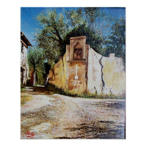 AFTERNOON IN RIMAGGIO / Tuscany View Poster