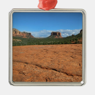 Afternoon In Sedona Metal Ornament