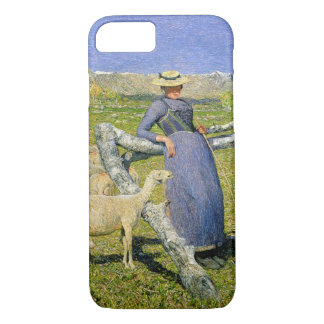 Afternoon in the Alps, 1892 (oil on canvas) iPhone 8/7 Case