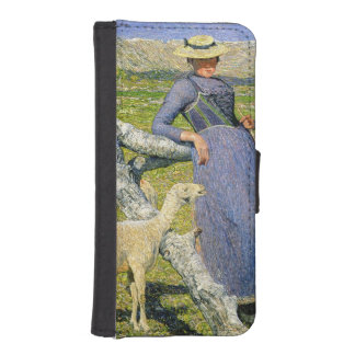 Afternoon in the Alps, 1892 (oil on canvas) Phone Wallet Case