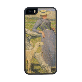 Afternoon in the Alps, 1892 (oil on canvas) Carved® Maple iPhone 5 Slim Case