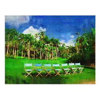 Afternoon in the garden - Tropical Collection Postcard
