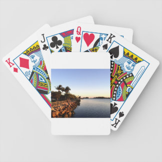 Afternoon Intercostal waterway Hollywood Florida. Bicycle Playing Cards