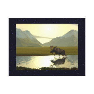 Afternoon Moose Canvas Print