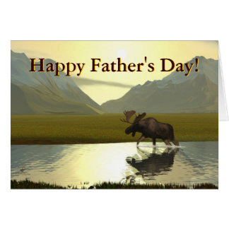 Afternoon Moose Father's Day Cards