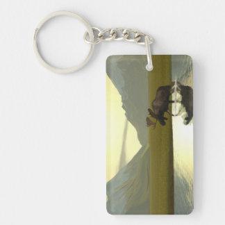 Afternoon Moose Acrylic Keychain