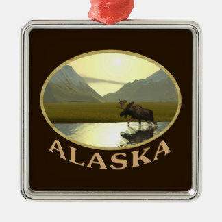 Afternoon Moose Metal Ornament