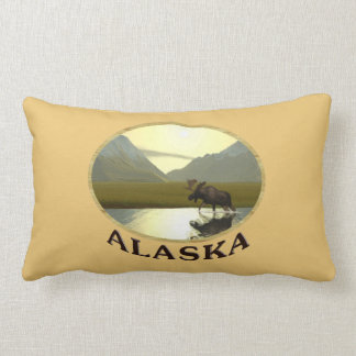 Afternoon Moose Throw Pillow