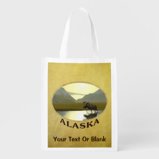 Afternoon Moose Reusable Grocery Bag