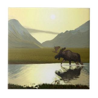 Afternoon Moose Tile