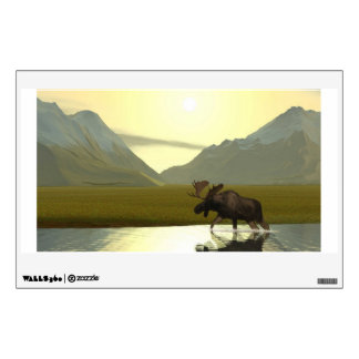 Afternoon Moose Wall Decal