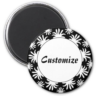 Afternoon of the Triffids Template - B&W 2 Inch Round Magnet