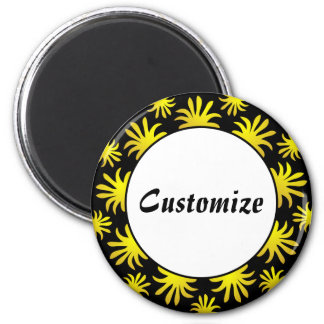 Afternoon of the Triffids Template - Black & Gold 2 Inch Round Magnet