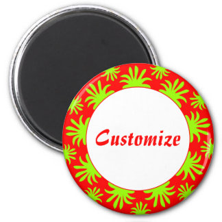 Afternoon of the Triffids Template - Red 2 Inch Round Magnet