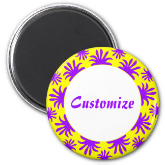 Afternoon of the Triffids Template -Yellow 2 Inch Round Magnet