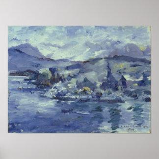 Afternoon on Lake Lucerne, 1924 Poster