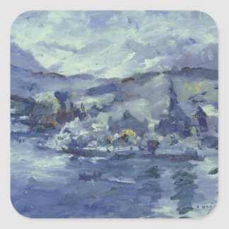 Afternoon on Lake Lucerne, 1924 Square Sticker