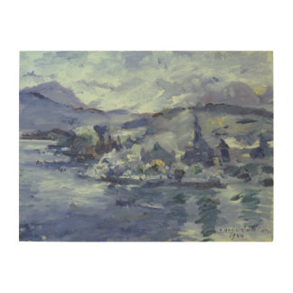 Afternoon on Lake Lucerne, 1924 Wood Wall Art
