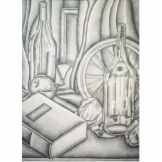 """Afternoon Read""- Graphite Pencil Still Life Statuette"