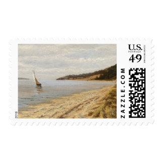 Afternoon Sailing - John F. Peto Postage Stamp