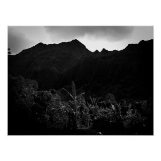Afternoon Showers, Oahu B&W Poster