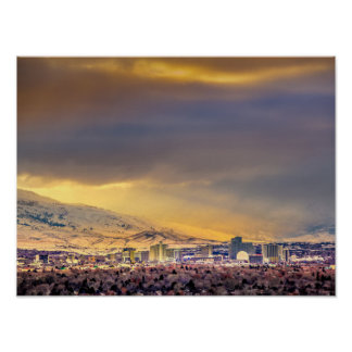 Afternoon Storm over Reno Poster