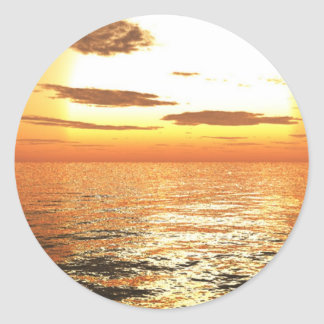 Afternoon Sun Classic Round Sticker