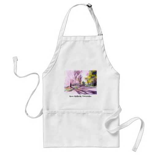 AFTERNOON SUN ON A ROAD,Ann Arbor, Michigan Adult Apron