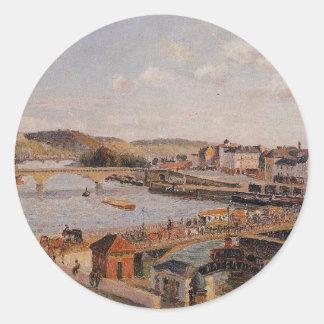 Afternoon, Sun, Rouen by Camille Pissarro Classic Round Sticker