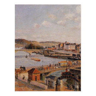 Afternoon, Sun, Rouen by Camille Pissarro Postcard