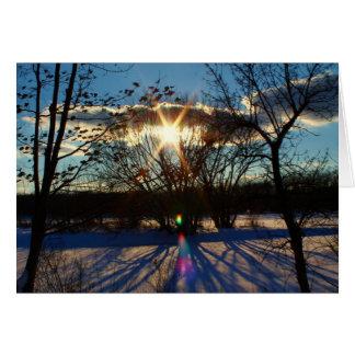 Afternoon Sun Shadows Card