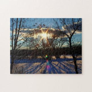 Afternoon Sun Shadows Jigsaw Puzzle