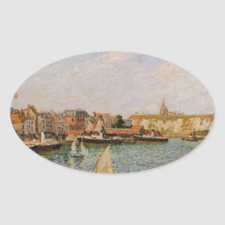 Afternoon, Sun, the Inner Harbor, Dieppe Oval Sticker