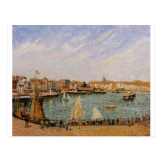 Afternoon, Sun, the Inner Harbor, Dieppe Postcard