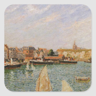 Afternoon, Sun, the Inner Harbor, Dieppe Square Sticker