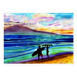 Afternoon surf lesson Lahaina Postcard