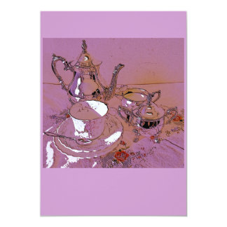 """Afternoon tea 5"""" x 7"""" invitation card"""
