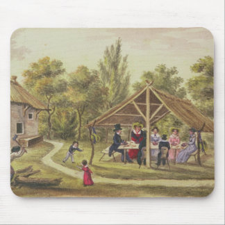 Afternoon tea at a tavern from the journal of mouse pad