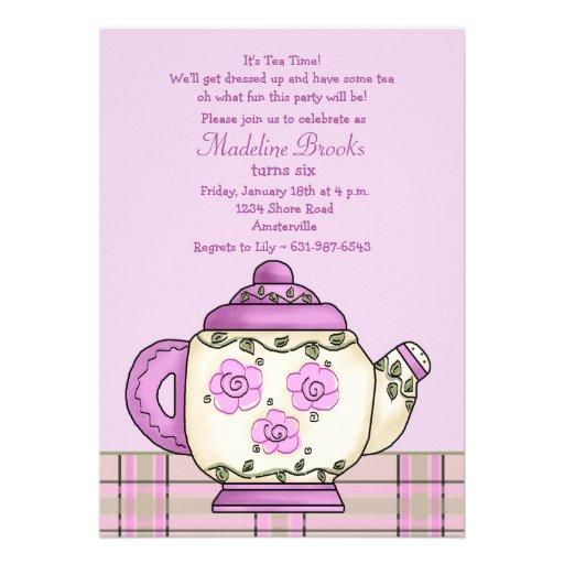 Watch more like Tea Time Invitation Wording – High Tea Party Invitation Wording