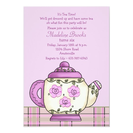 Afternoon Tea Birthday Party Invitation – Tea Birthday Party Invitations