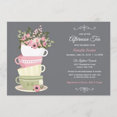 Afternoon Tea Bridal Shower Invitation