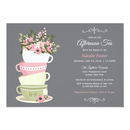 Afternoon Tea Bridal Shower Invitation Zazzle Com
