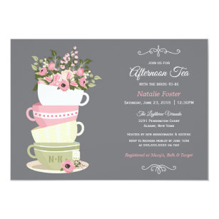 tea bridal shower invitations zazzle