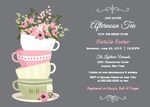 afternoon tea bridal shower invitiation invitation