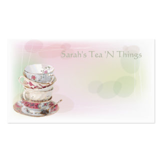 Afternoon Tea Double-Sided Standard Business Cards (Pack Of 100)