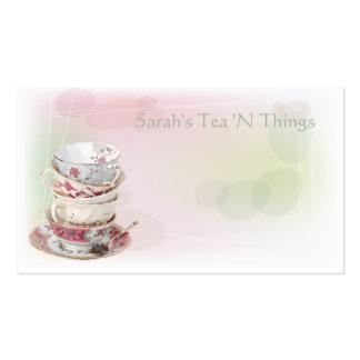 Afternoon Tea Business Card Templates