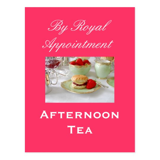 Afternoon Tea 'By Royal Appointment 'Postcard Postcard