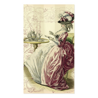Afternoon Tea, calling card on ivory Double-Sided Standard Business Cards (Pack Of 100)