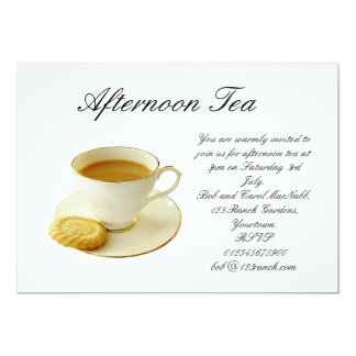 afternoon tea card