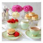 Afternoon Tea Customizable Square Invitation
